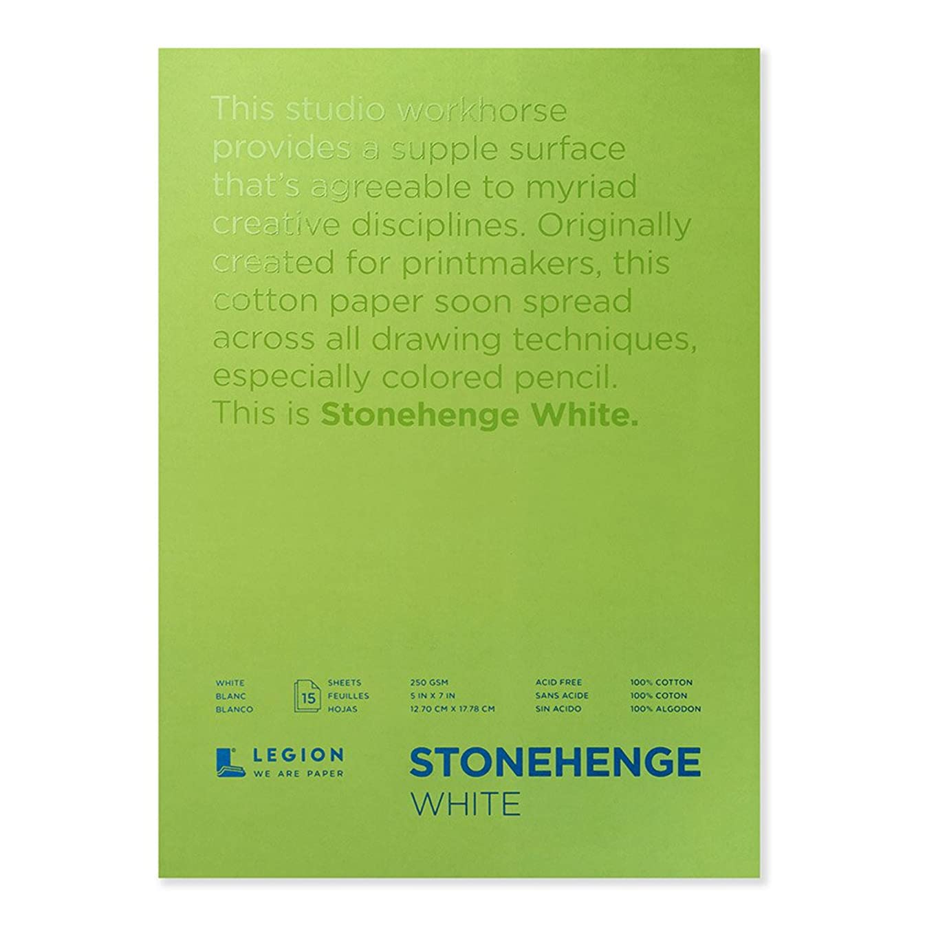 Stonehenge drawing pad 5 inch by 7 inch 15 sheets