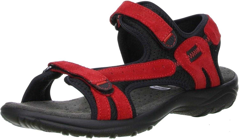 Vista Damen Trekking Wander Outdoorschuhe Sandalen rot schwarz