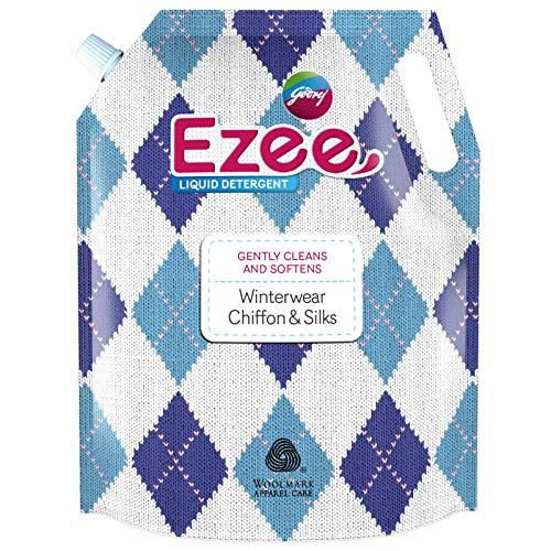 Godrej Ezee Liquid Detergent 2 kg Pouch for Winter-wear, Added...