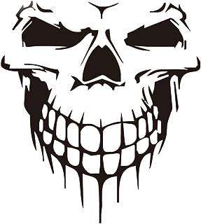 WINOMO Skull Car Stickers Auto Bumper Decal Truck Tailgate Stickers Decoration (Black)