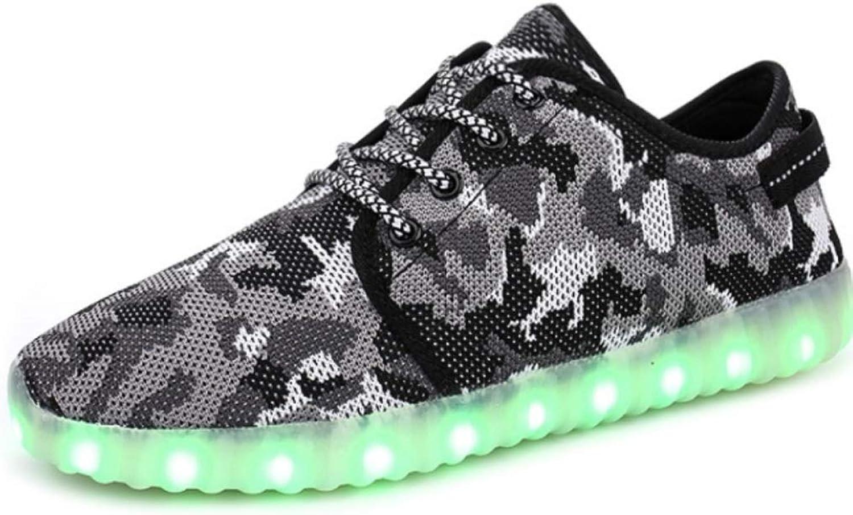 Peng ye LED Lighting shoes USB Charging Couple Students Luminous shoes Casual shoes (color   G, Size   45EU)