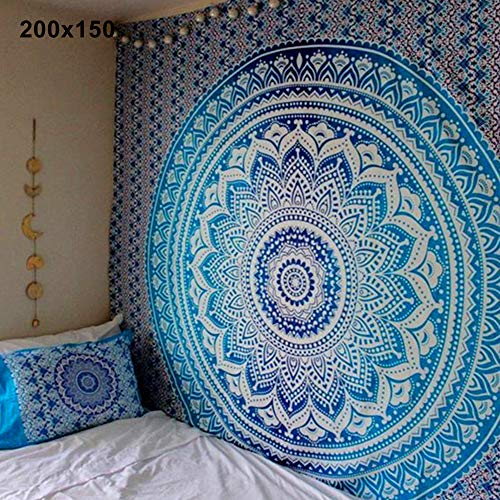 hbz11hl Yoga Equipment Tapestry Mandala Bohemian Yoga Mat Beach Towel Shawl Blanket Indian Wall Hanging Tapestry Portable Home Fitness Equipment for Exercises Yogis and Mom