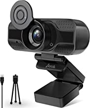 Webcam with Microphone,1080P HD Webcam Desktop or Laptop, Streaming Webcam for Computer Widescreen Video Calling and Recor...