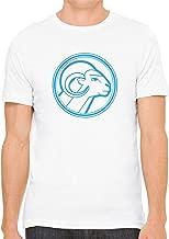 Blue Aries Star Sign Unisex Premium Crewneck Printed T-Shirt Tee
