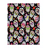 QH Sugar Skull Super Soft Throw Blanket for Bed Couch Lightweight Blanket 58 x 80 Inch for All Seasons