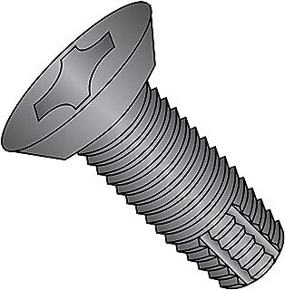 82 Degree Flat Undercut Head Type 23 Phillips Drive Pack of 100 Zinc Plated Steel Thread Cutting Screw #8-32 Thread Size 3//4 Length