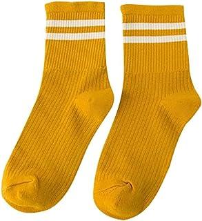 Calcetines deportivos de skate de algodón con rayas unisex socks