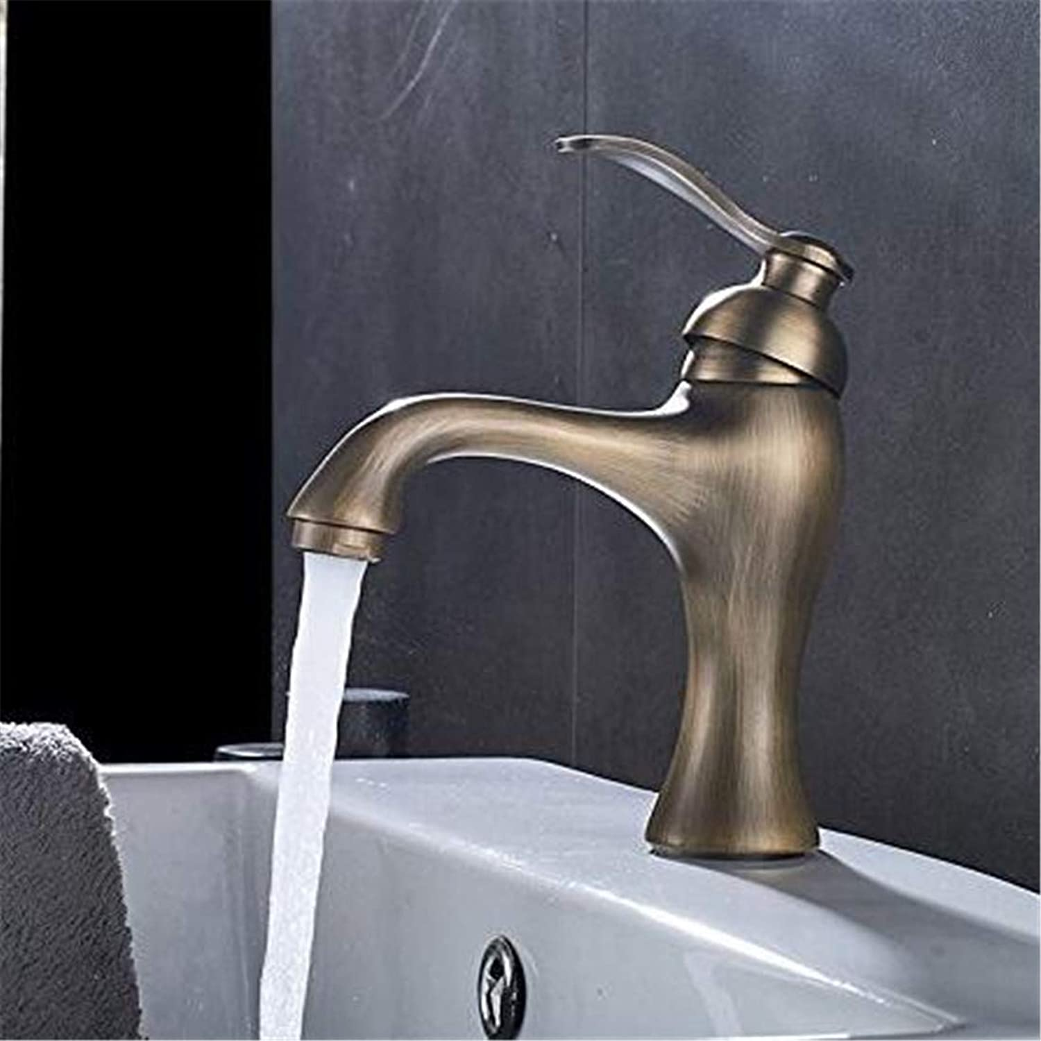Chrome Kitchen Sink Tapantique Faucet Basin Sink Faucets Hot and Cold Water Mixer Valve Faucet Tap Taps with Plate Robinet Lavabo