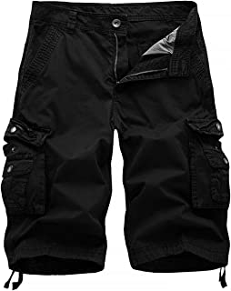 HHGKED Mens Below Knee Relaxed Fit Long Cargo Shorts