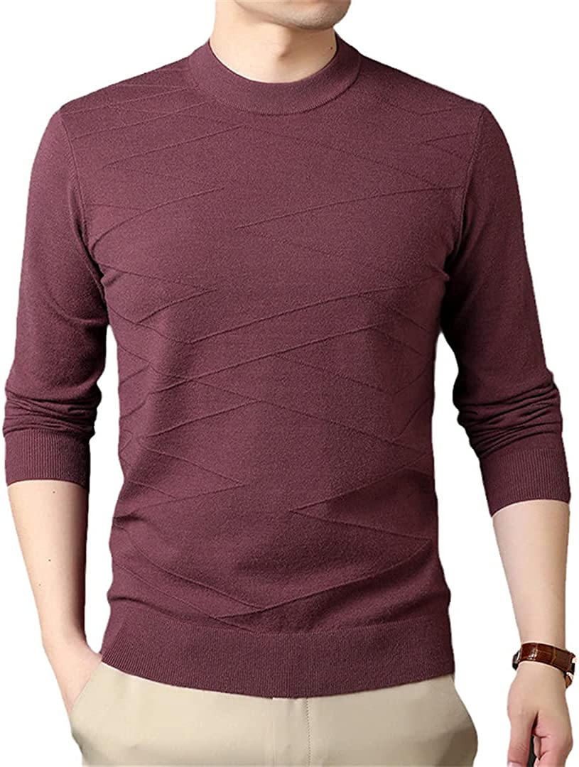 EGFIOKMJHT Autum Winter Knit Pullover Pullover Sweaters for Men Woolen Casual Jumper Clothes Men