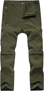 Asfixiado Kids Hiking Cargo Pants-Youth Girls Outdoor Convertible Climbing Camping Fishing Trail Zip Off Trousers #9017