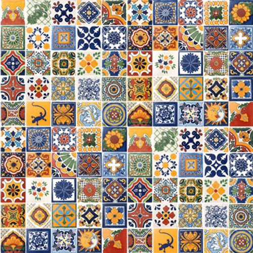 100 Hand Painted Talavera Mexican Tiles 4'x4' Spanish Influence