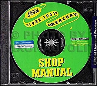 1932-1941 Repair Shop Manual CD-ROM Ford Car & Pickup Lincoln-Zephyr Mercury