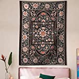 Pheolyh Bohemian Floral Patterned Tapestry Queen Bedspread Dorm...