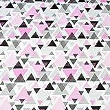 Pingianer 11,99€/m Pyramide Rosa Schwarz Punkte,