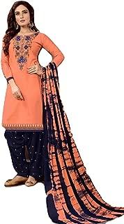 We Designer Patiala Salwar Embroidered Cotton Salwar Kameez Suit India/Pakistani Dress Casual Suit for evwry Women