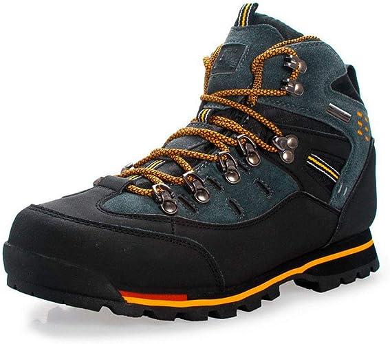 LYS Chaussures de randonnée Hautes pour Aider aux Chaussures de Sport en Plein air Chaussures de randonnée Chaussures de Voyage étanches Chaussures de Course à Pied pour Hommes,B,7UK