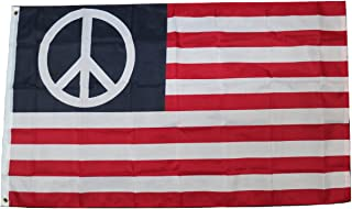 TrendyLuz Flags USA Peace Love Equality Banner Flag 3x5 Feet