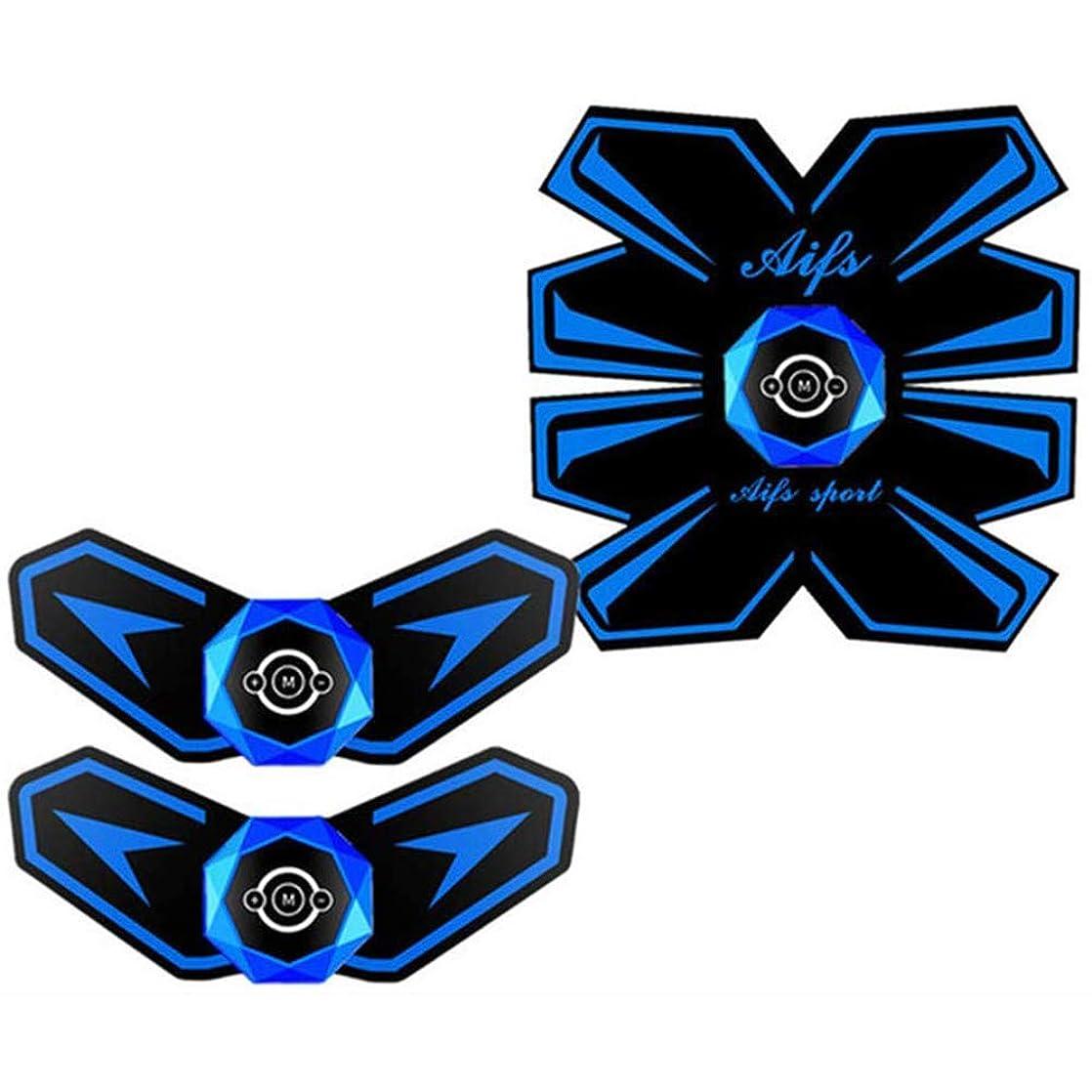 撤回する貼り直す偏差腹部筋肉トレーナーインテリジェント音声放送筋肉トレーナーUsb充電機能男性と女性に適用可能な電子筋肉EMSテクノロジー