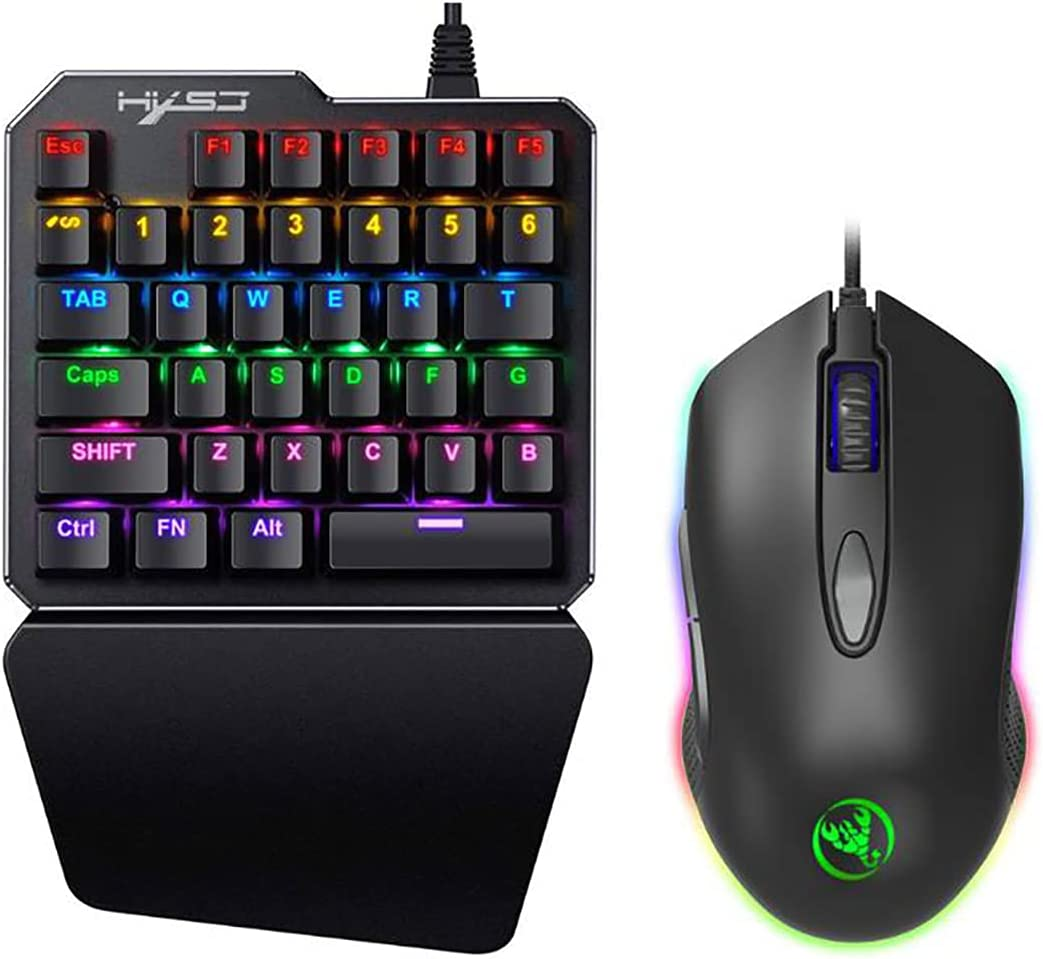 BUGPIG El Paso Mall One Handed Mechanical Gaming Weekly update Keyboard RGB LED Backlit 35