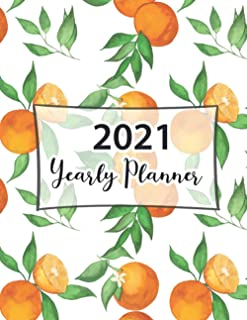 2021 Yearly Planner: Pretty Simple One Year Planner Monthly Calendar Planner Day for To Do's and Appointments and Producti...