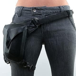 Steampunk PU Leather Waist Bag Vintage Gothic Steampunk Fanny Waist Leg Bag