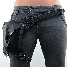 UIYTR Steampunk PU Leather Waist Bag Vintage Gothic Steampunk Fanny Waist Leg Bag