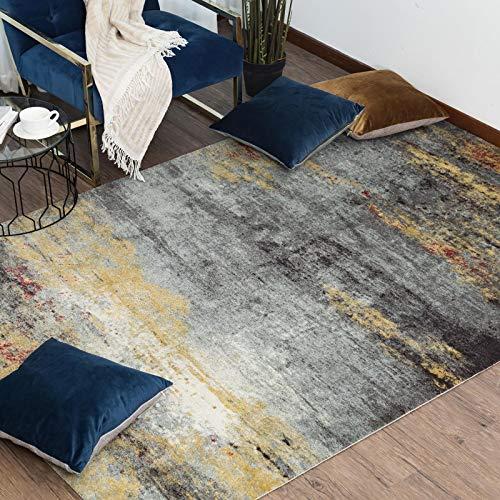 Taleta Designer Tappeto Soggiorno Moderno Astratto Pelo Corto Denaro Grigio 160x230cm