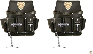 McGuire-Nicholas 526-CC Brown Professional Electrician's Pouch, Pack of Two