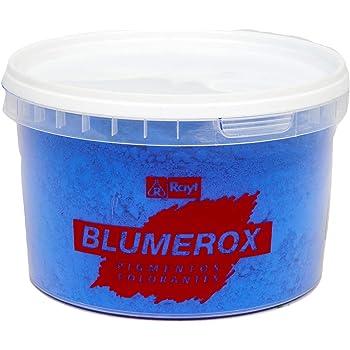 Rayt 1183-71 Blumerox Polvo para Interiores Cemento Blanco o Gris, Cal y Yeso. Altísimo Poder colorante. Pigmentos de Primera Calidad. Color Azul 05, 450gr: Amazon.es: Bricolaje y herramientas