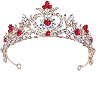 LUCKYYY Il Copricapo Lascia Gli Accessori da Sposa del Cerchio per Capelli della Corona della Sposa