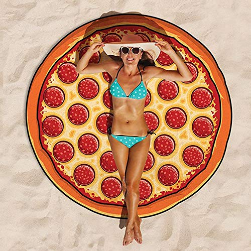La serviette de plage pizza