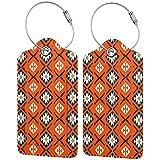 Tribal Ornamento Personalizado Cuero De Lujo Maleta Etiqueta Set Accesorios De Viaje Etiquetas De Equipaje