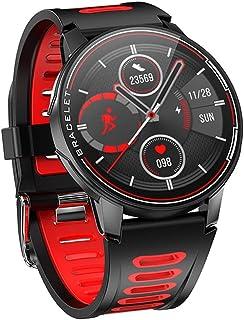 Smartwatch resistente al agua IP68 Bluetooth 5.0 Fitness Tracker Monitor de ritmo cardíaco Smartwatch Hombre Mujer Smartwatch(Color:Rojo)