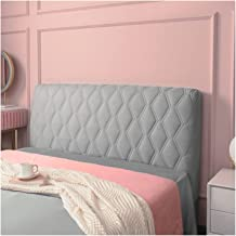Bed Headboard Cover,Full Soft with Stretch Side and Pocket Dustproof Cotton Furniture Sofa for Bedroom Decor (Color : Gre...