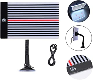 HiYi Paintless Dent Fix Tools Car LED Stripe Line Board Light Find Dent Reflector Dent Removal Repair Tool Lamp with Adjustment Holder and USB Line Power Button with 3 Different Brightness Controls