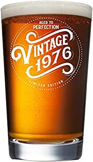 1976 43rd Birthday Gifts for Men and Women Beer Glass - 16 oz Funny 43 Year Old Vintage Pint Glasses for Party Decorations - Anniversary Gift Ideas for Dad, Mom, Husband, Wife - Best Craft Beers Mug