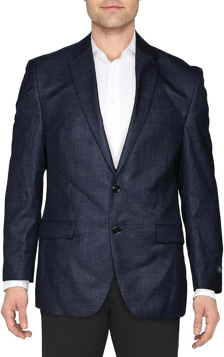 Lauren Ralph Lauren Mens Check Print Suit Separate Blazer
