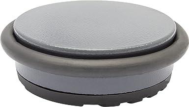 WAGNER Gronddeurstopper BIG DISK COLOR GREY - diameter Ø 98 x 30 mm, industrieel staal gecoat, thermoplastisch rubber, gri...