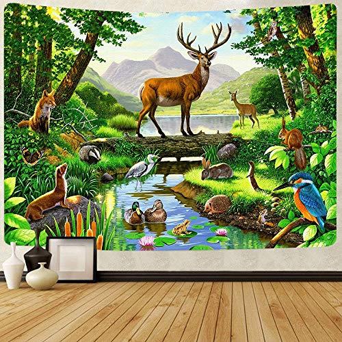 Flor abstracta tapiz linterna de calabaza cielo nocturno arte colgante de pared fondo tela sala de estar dormitorio decoración a22 130x150cm