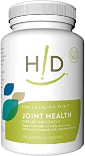 Hallelujah Diet Joint Health Dietary Supplement, 100% Natural and Plant-Based (120 Vegetable Capsules, 60-Day Supply)