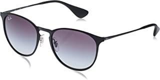 Ray-Ban Metal Unisex Sunglass Round, Black, 54mm
