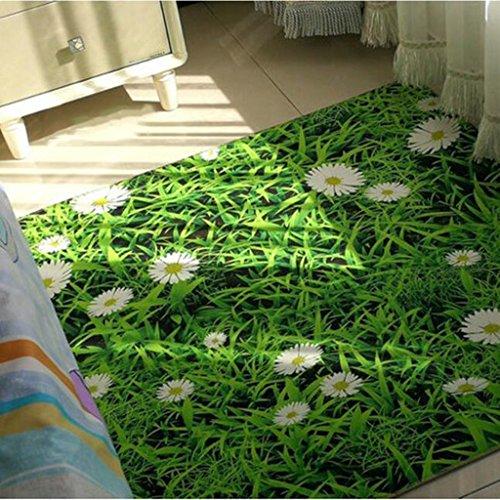 Grün Wohnzimmer couchtisch Teppich Schlafzimmer nachttischdecke kinderzimmer Teppich küche Bad rutschfeste matten Abriebfest maschinenwaschbar (Color : 140 * 200CM (55 * 79INCH))