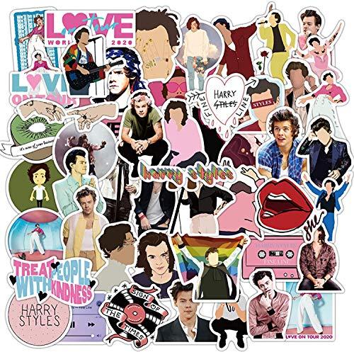 Huayao 50pcs Singer Harry Styles Adesivi Impermeabile per Laptop Fai da Te Bagagli Frigorifero Skateboard Decor Toy Graffiti Decalcomanie Sticker