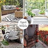 Teppich Wölkchen Outdoor-Teppiche für Draußen   Balkon Terrasse Garten Küche   Wetterfest Wasserfest und UV-Beständig mit ÖKO-TEX 100   Jeans Blau - Raute - 120 x 170 cm - 5