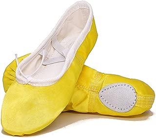 GetMine Kids Girls Satin Ballet Dance Shoes Split-Sole Practice Gymnastics Ballet Slippers Flats (Toddler/Little Kid/Big Kid)