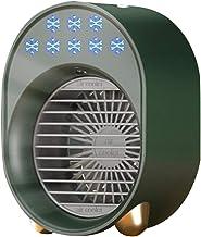 Shuliang Draagbare luchtkoeler, oplaadbare draadloze ventilator met sterke verdampingsairconditioning en 3 snelheden voor ...