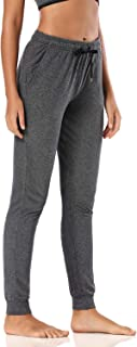 """Safort Women Casual Sweatpants 30""""/32""""/34"""", Cotton Jogger Pants with There Pockets, Elastic Waist Jersey Pockets Pants"""