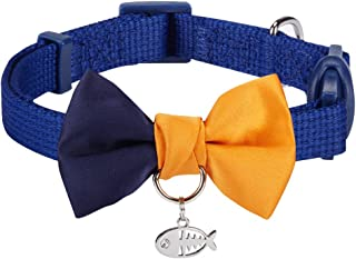 Blueberry Pet 18 Designs Safety Breakaway Cat Collars w/Handmade Bow Tie and Cute Charm