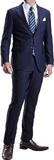 [MARUTOMI] 洗えるスーツ ウォッシャブル スーツ スリムスーツ ストレッチ素材 オールシーズン対応 メンズ 紳士 ビジネス スーツ suit【スーツハンガー付属】 AC103